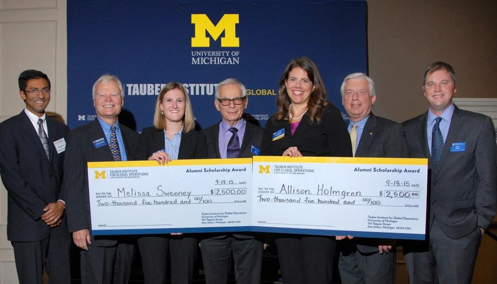 Allison Holmgren and Melissa Sweeney receive Tauber Alumni Scholarships