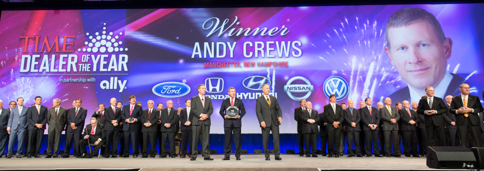 Congratulations to the 2015 TIME Dealer of the Year, Andy Crews of AutoFair Honda in Manchester, New Hampshire.